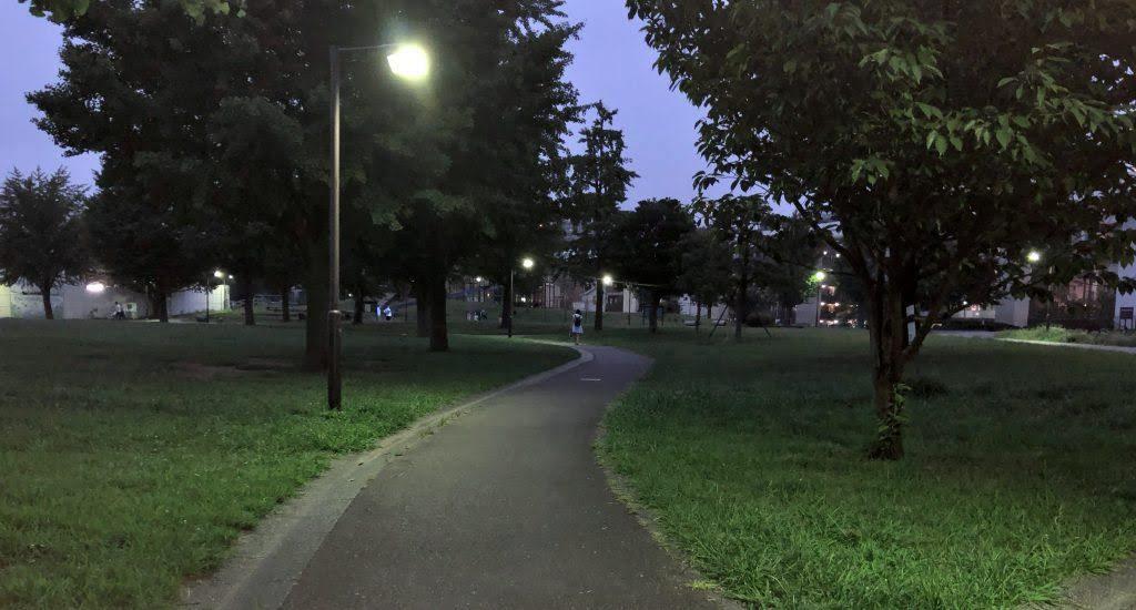 夜の蒔田公園