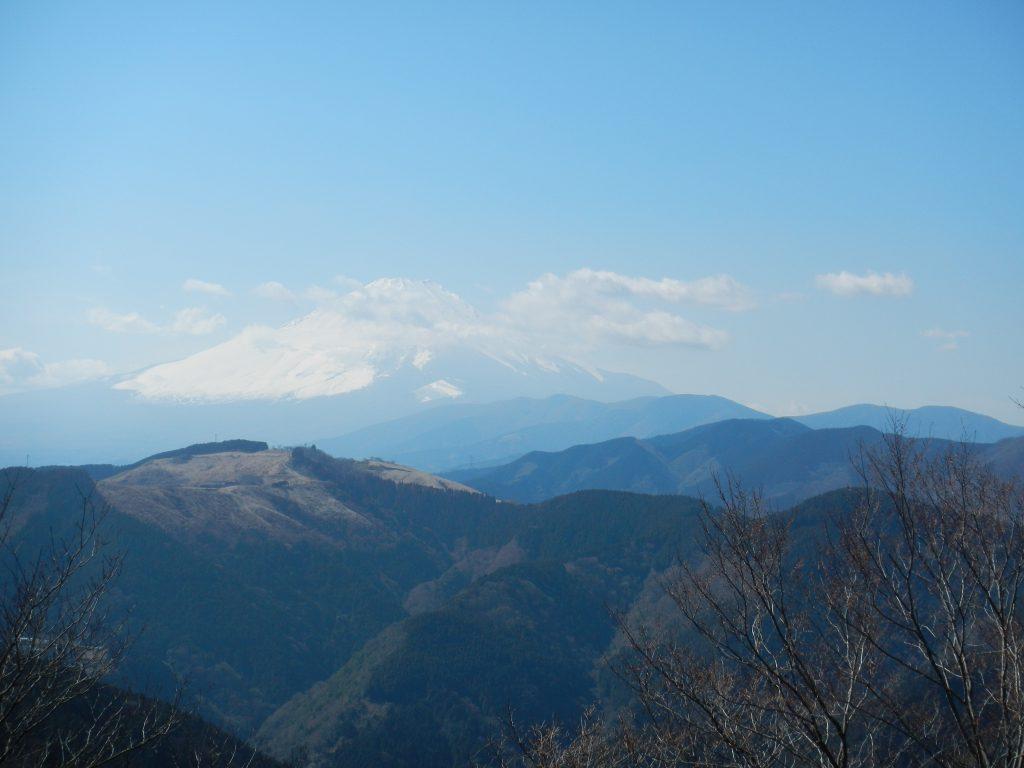 富士見台からは富士山が見えた