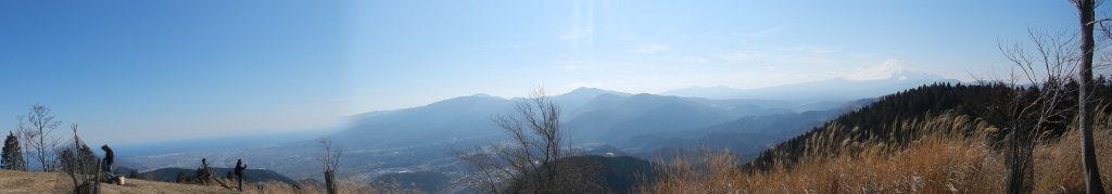 高松山山頂からのパノラマ写真