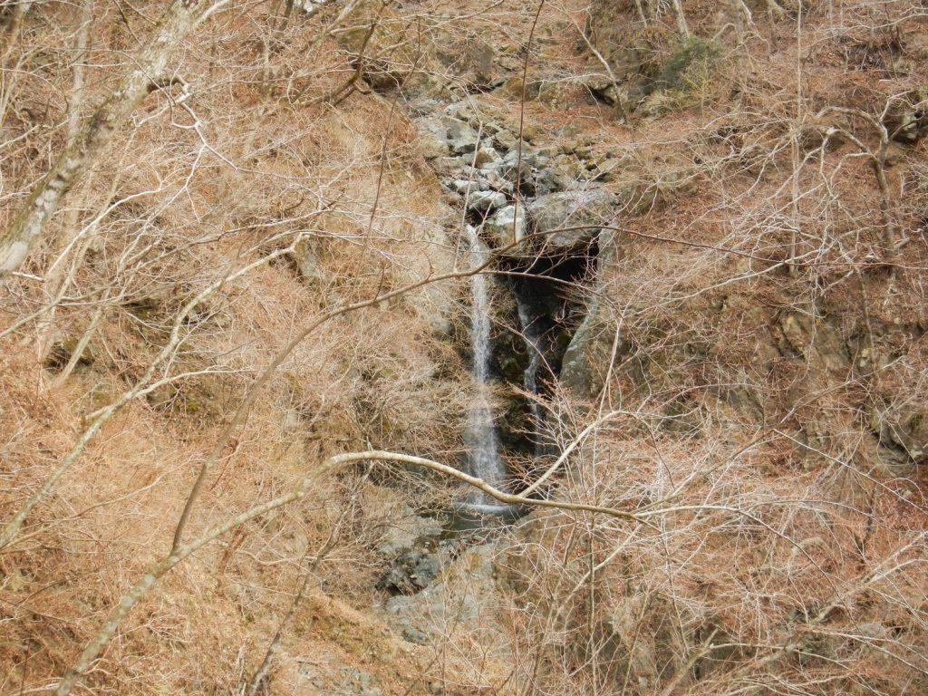 遠くに本谷の滝が見えてきた