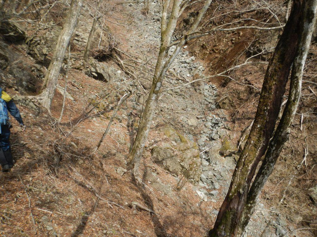 大滝の上は涸れ沢