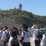 江の島に渡る橋は大混雑!